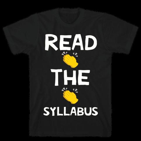 Read The Syllabus Clap Emoji Mens/Unisex T-Shirt