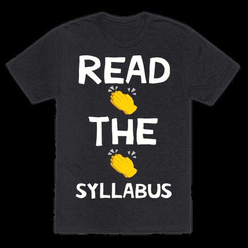 Read The Syllabus Clap Emoji Mens T-Shirt