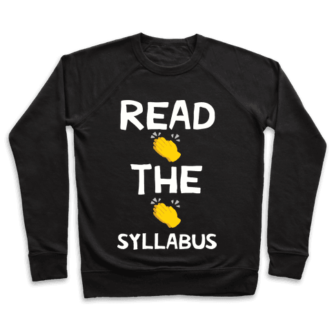 Read The Syllabus Clap Emoji Pullover