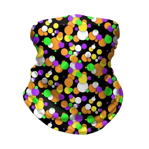Halloween Confetti Pattern Neck Gaiter