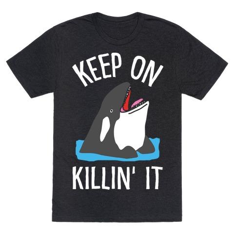 Keep On Killin' It Whale Mens T-Shirt