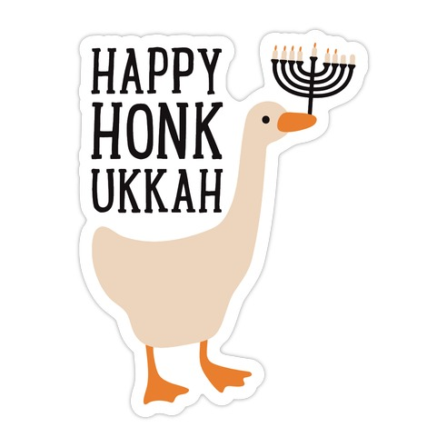 Happy Honkukkah Die Cut Sticker