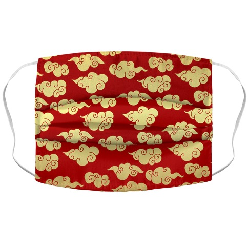 Oriental Clouds Pattern Accordion Face Mask