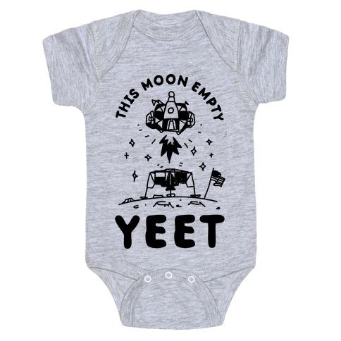 This Moon Empty YEET Baby Onesy