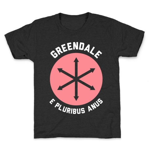 Greendale E Pluribus Anus Kids T-Shirt
