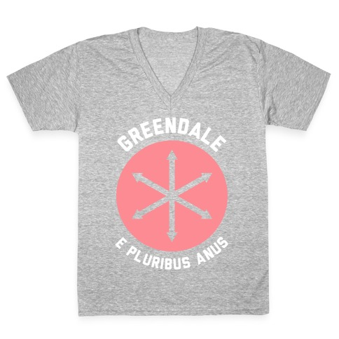 Greendale E Pluribus Anus V-Neck Tee Shirt