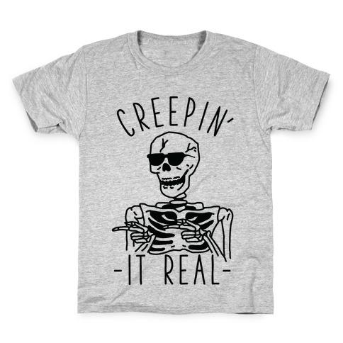 Creepin' It Real Skeleton Kids T-Shirt