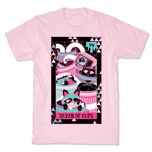 Creepy Cute Tarots: Seven Of Cups T-Shirt