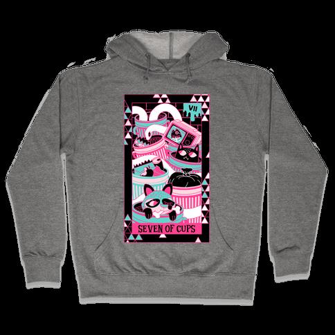 Creepy Cute Tarots: Seven Of Cups Hooded Sweatshirt