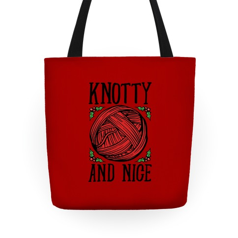 Knotty and Nice Yarn Parody Tote