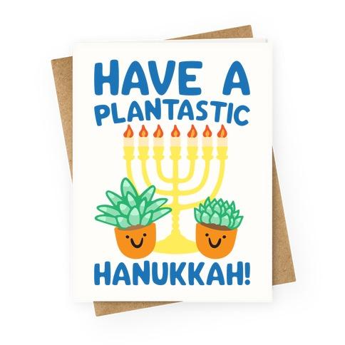 Have A Plantastic Hanukkah Greeting Card