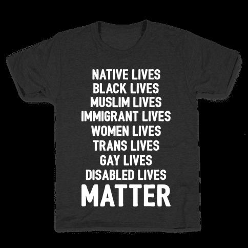 Minority Lives Matter Kids T-Shirt