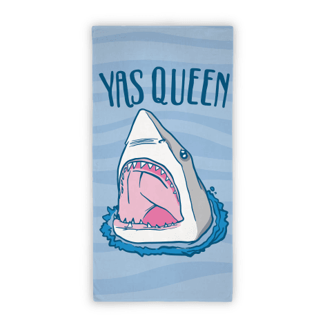 Yas Queen Shark Beach Towel Beach Towel