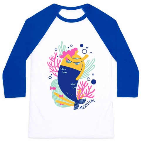 Mergical Mermaid Baseball Tee
