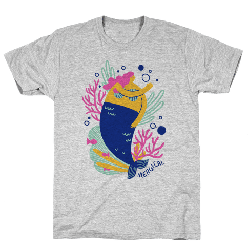 Mergical Mermaid Mens T-Shirt