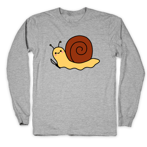 Snail With Knife Long Sleeve T-Shirt
