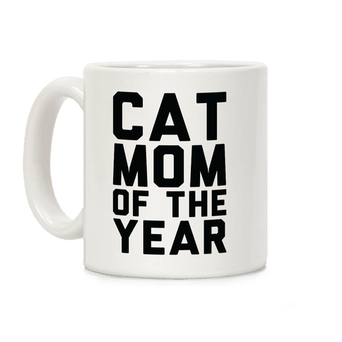 Cat Mom Of The Year Coffee Mug