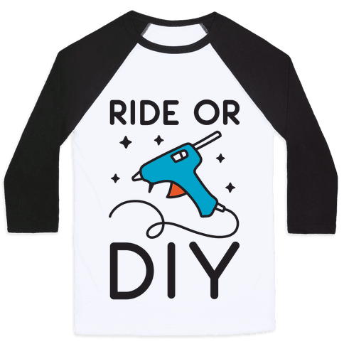 Ride Or DIY Pair 2/2 Baseball Tee
