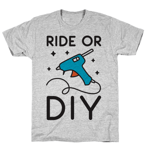 Ride Or DIY Pair 2/2 Mens T-Shirt
