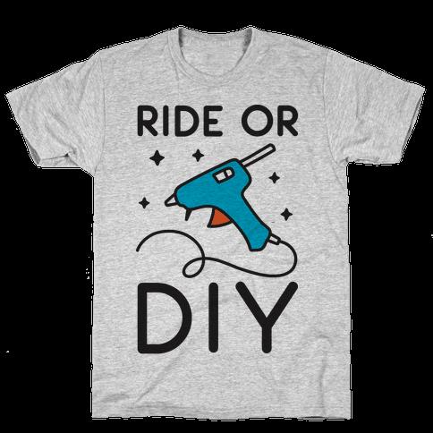 Ride Or DIY Pair 2/2 Mens T-Shirt