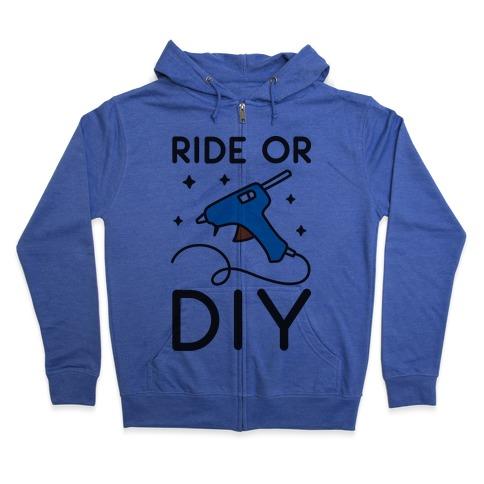 Ride Or DIY Pair 2/2 Zip Hoodie