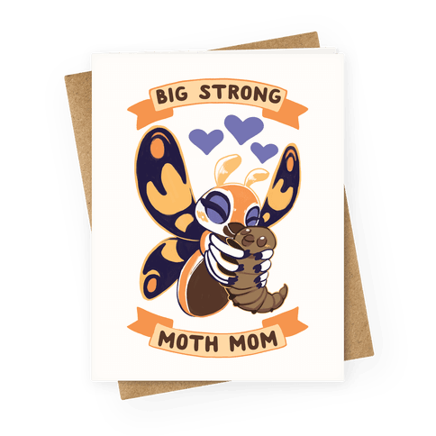 Big Strong Kaiju Mom Greeting Card