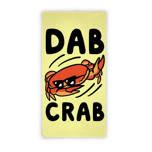 Crab Doing The Dab Beach Towel