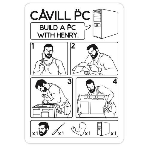 Cavill PC Parody Die Cut Sticker