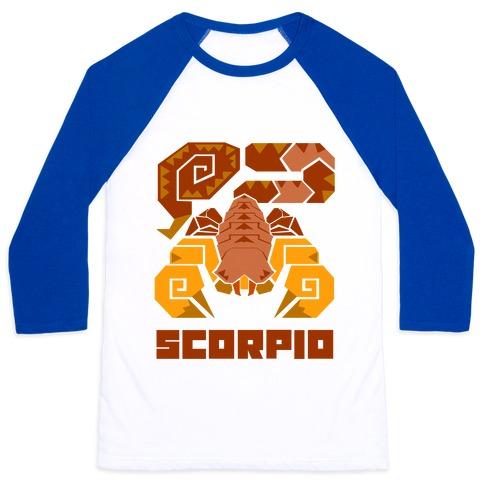 Monster Hunter Astrology Sign: Scorpio Baseball Tee