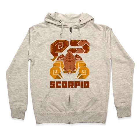 Monster Hunter Astrology Sign: Scorpio Zip Hoodie