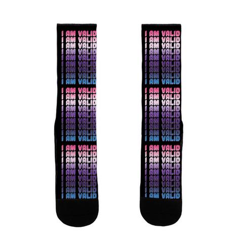 I Am Valid - Genderfluid Sock