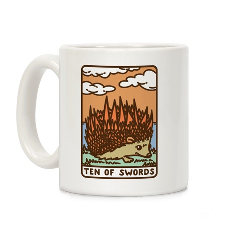 Ten of Swords HedgeHog Tarot Parody Coffee Mug