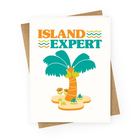 Island Expert (Animal Crossing) Greeting Card