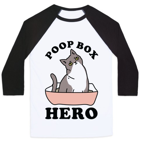 Poop Box Hero Baseball Tee