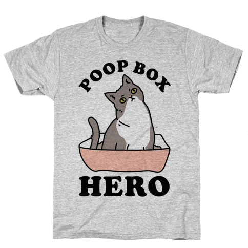 Poop Box Hero Mens T-Shirt