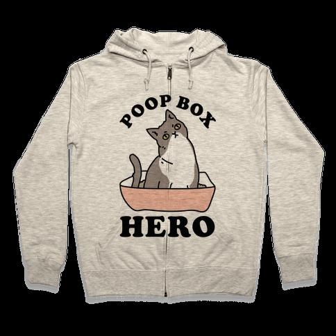 Poop Box Hero Zip Hoodie