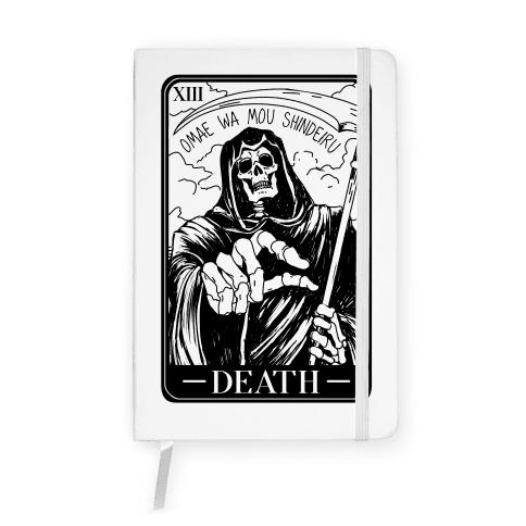Omae Wa Mou Shindeiru Death Tarot Card Notebook