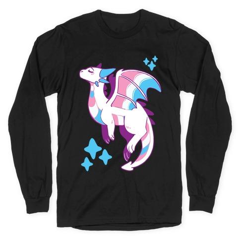 Trans Pride Dragon Long Sleeve T-Shirt