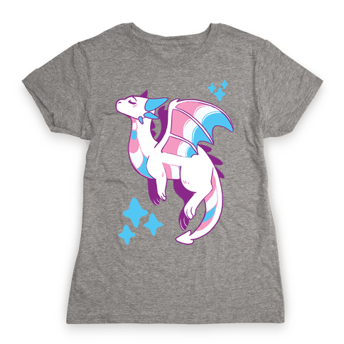 Trans Pride Dragon Womens T-Shirt