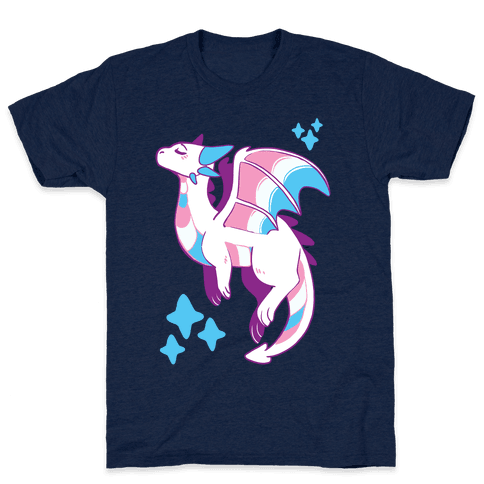 Trans Pride Dragon Mens T-Shirt