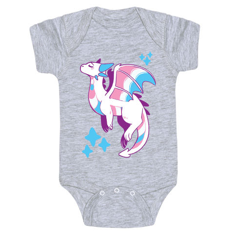 Trans Pride Dragon Baby Onesy