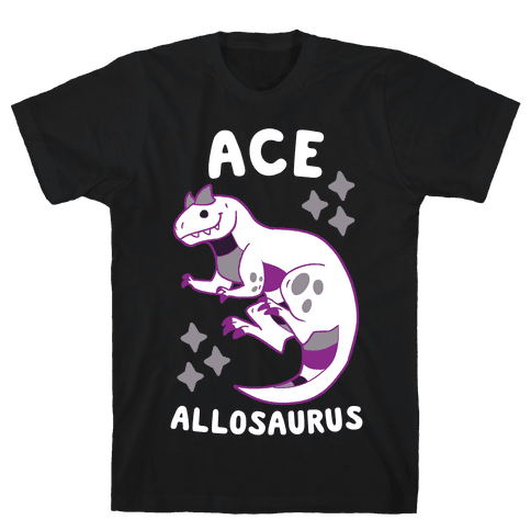 Ace Allosaurus  Mens T-Shirt
