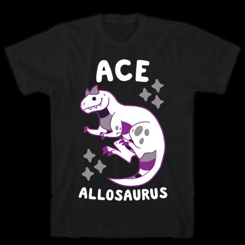 Ace Allosaurus  Mens T-Shirt