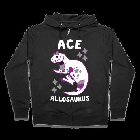 Ace Allosaurus  Zip Hoodie