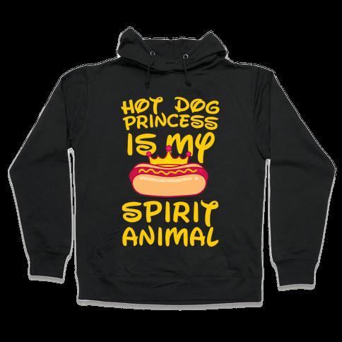 Hot Dog Princess is My Spirit Animal (Yellow) Hooded Sweatshirt