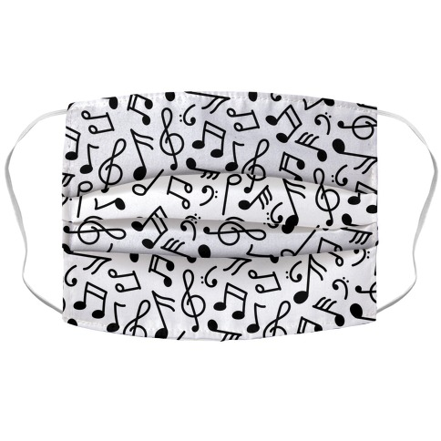 Musical Note Pattern Accordion Face Mask