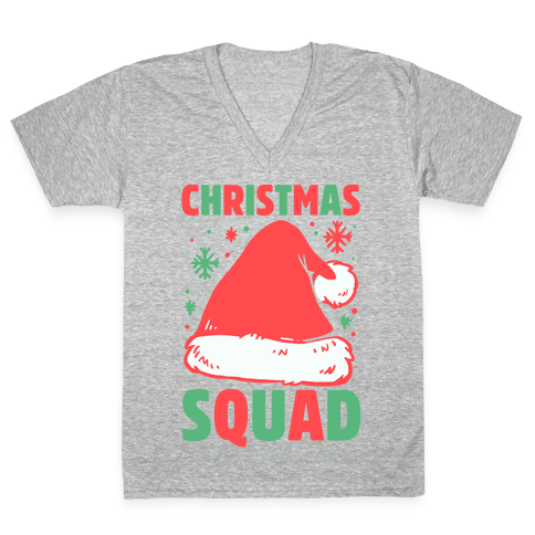Christmas Squad V-Neck Tee Shirt