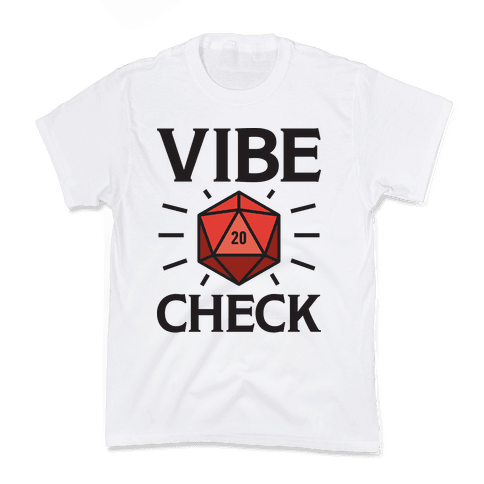 Vibe Check D20 Kids T-Shirt