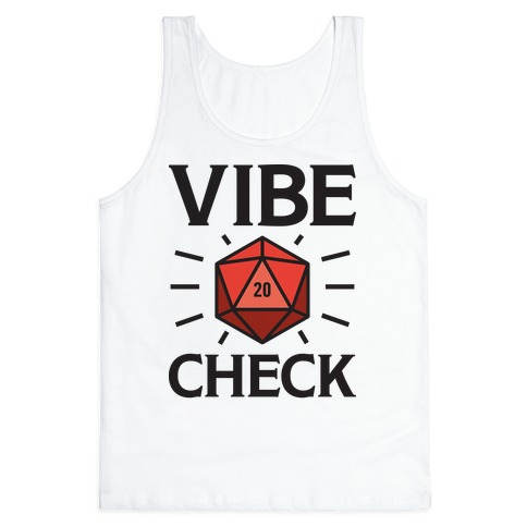 Vibe Check D20 Tank Top