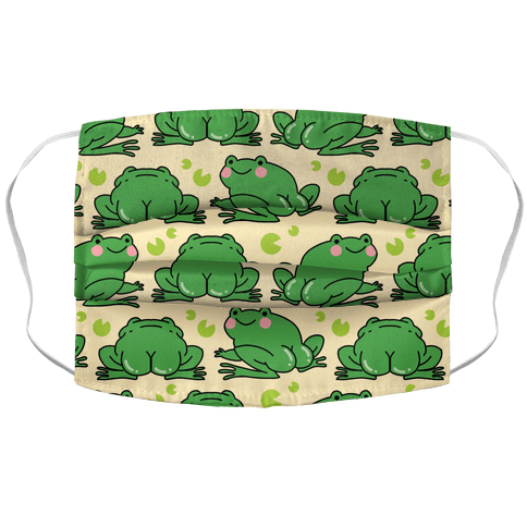 Frog Butt Accordion Face Mask